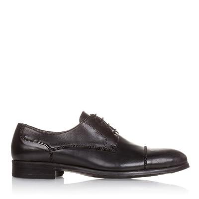 Castellanísimos C00113 Zapatos Hombre Blucher Piel con Cordones Color Negro