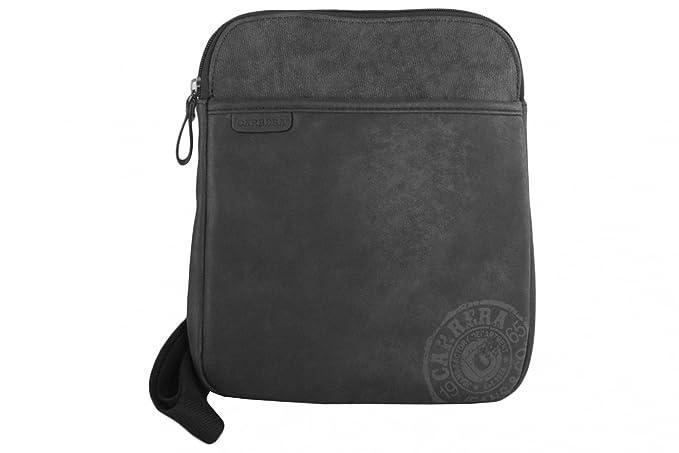 e70db08e7b Tracolla uomo CARRERA nera borsa bandoliera borsello piatto: Amazon.it:  Abbigliamento