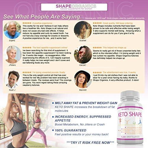 KETO SHAPE Fat Burn Formula: Max KETOSIS Energy Booster Complex Diet Pill that Works Best for Women and Men, Green Tea, Coffee Bean Extract, Raspberry Ketone, African Mango, Resveratrol 120 Veg Cap 3
