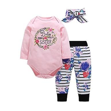 15e4d60993d077 BeautyTop Baby Body 0-24 Monate Neugeborenes Baby Jungen Mädchen 3Pcs  Kleinkind Kinder Infant Baby