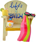 """Life's a Beach Christmas Ornament 3.5"""""""