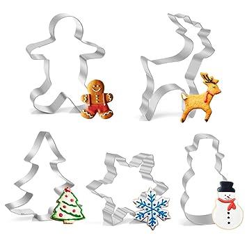 27 Stück Ausstechformen Ausstecher Set ,Backen Kuchen Cutter Weihnachten Baum