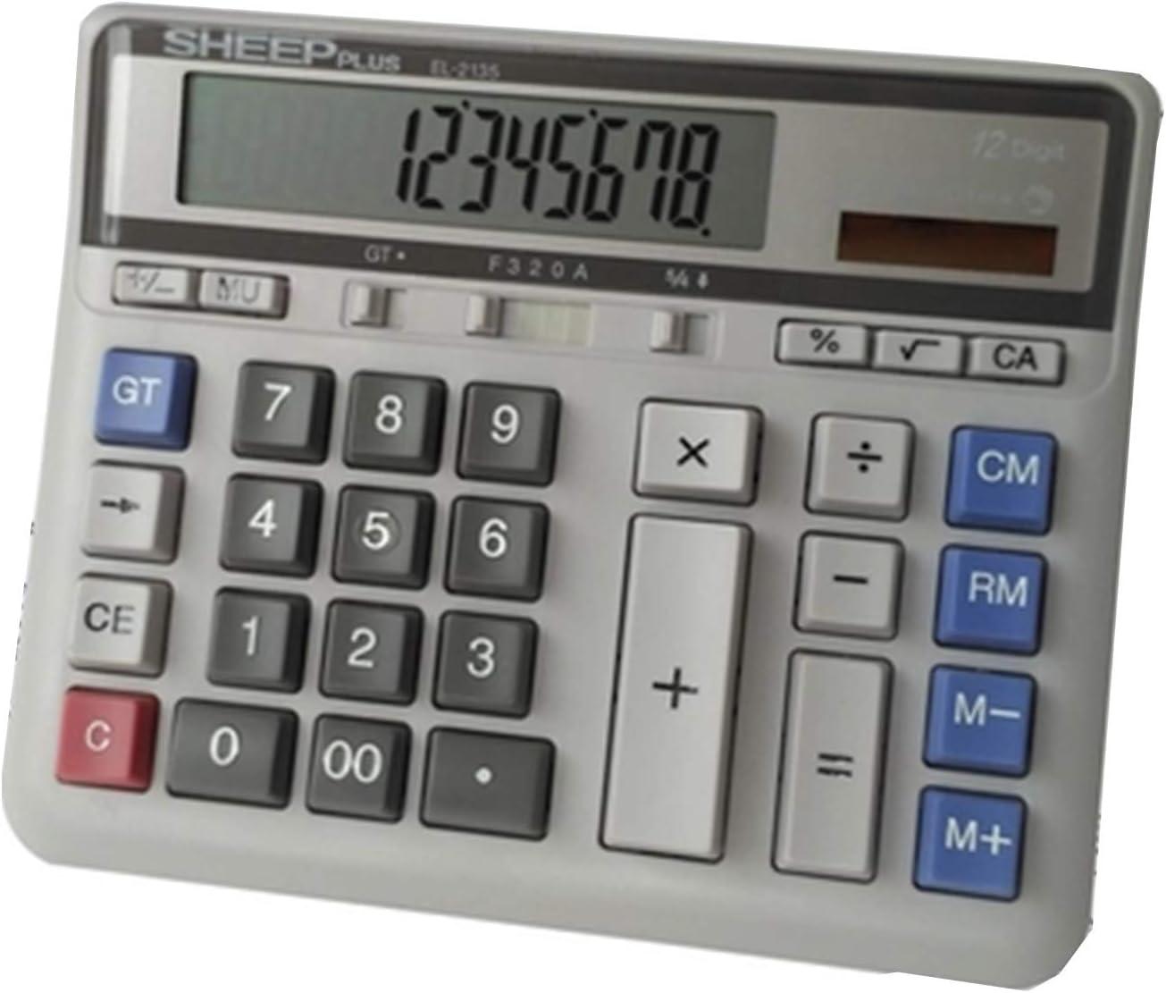HEIFEN Oficina financiera Calculadora Botón Grande Potencia Grande Pantalla Grande Caja registradora dedicada Máquina de Negocios con Pantalla Digital de 12 dígitos: Amazon.es: Hogar