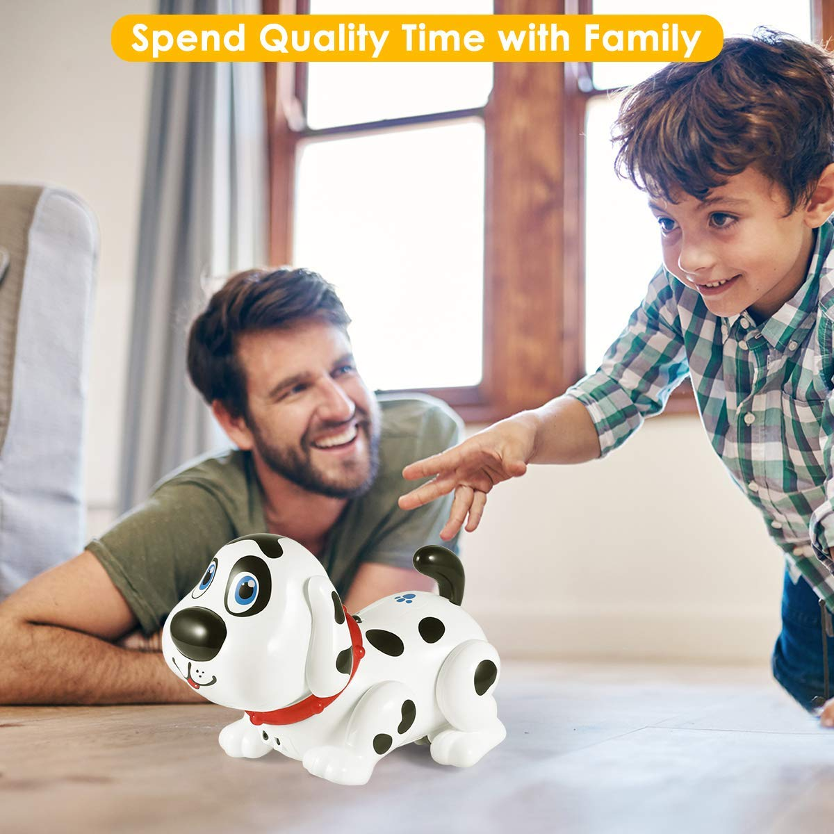 Electronic Dog,Interactive Puppy, Touch with Chasing, Walking, Dancing, Music, Interactive and Induction Toys for Boys or Girls Birthday Gifts by MIGO (Image #8)