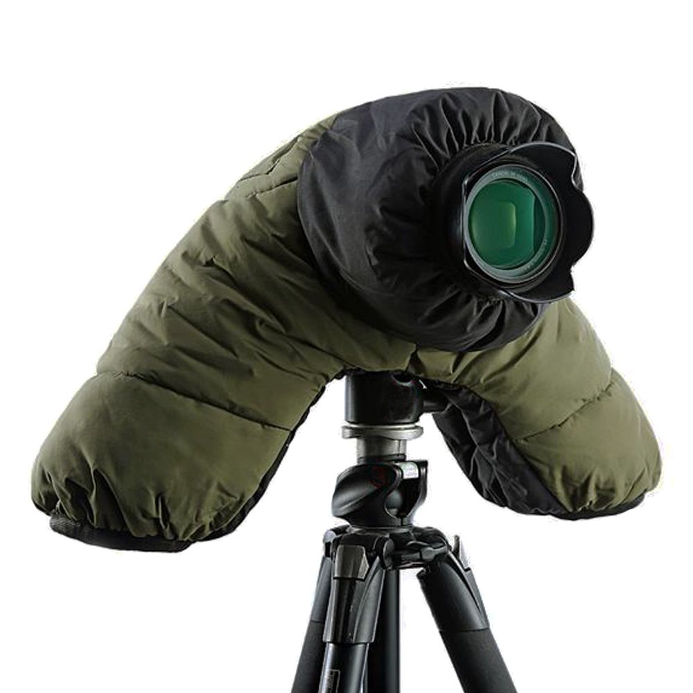 LYstudio DSLR SLR Camera Cotton Cold-proof Waterproof Rain Cover Warm protector with Carrying Bag for Outdoor Shooting - Army Green by LYstudio