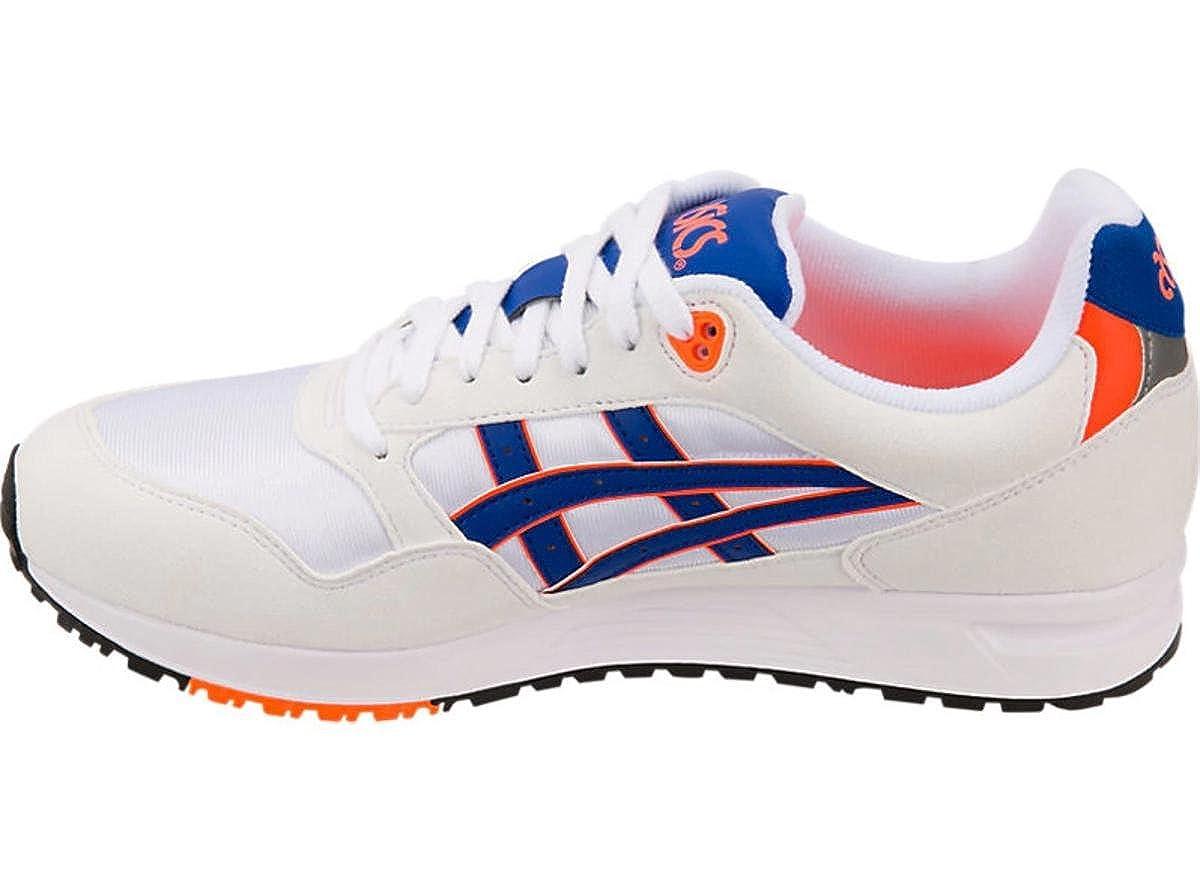 Asics Gel-Saga Running Shoes White//ASICS Blue Mens 12.5 M US//Womens 14 M US