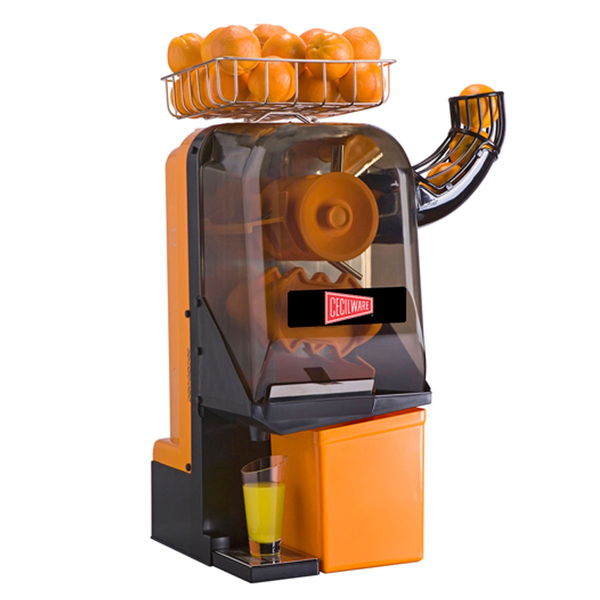 Cecilware JX15MC Compact Automatic Juicer w/ 6-Orange Feeder Capacity, 15-Orange Per Min, Each