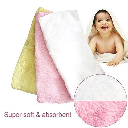 Suave y Fulffy bebé toalla de cara – suave gamuza de incluso después de lavado –