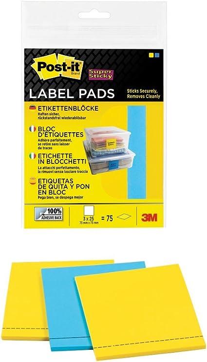 Post-It 70005084804 - Pack de 3 bloques de etiquetas adherentes ...