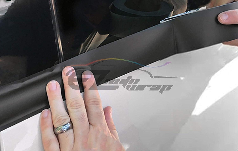 EZAUTOWRAP Free Tool Kit 3M 1080 Gloss Black Vinyl Wrap Kit for Black Out Chrome Delete Window Trim Door Trim 2 x25Ft