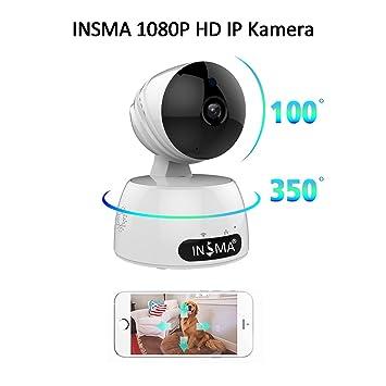 Minicámara de vigilancia INSMA®, cámara con Wi-Fi 1080p, cámara con vídeo