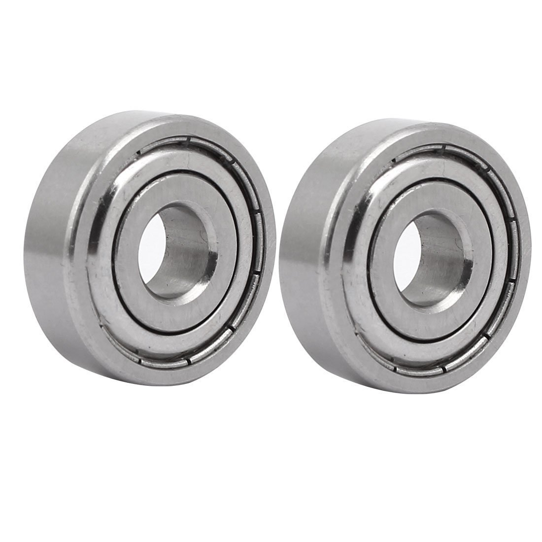 Sourcingmap 6200 30mmx10mmx9mm Stainless Steel Shielded Deep Groove Radial Ball Bearing 2pcs