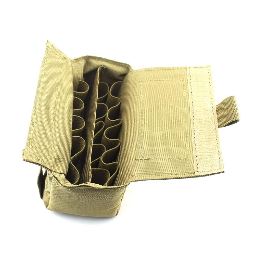 MOLLE 25 Round Shell Shotgun Reload Magazine Pouch Ammo Carrier Case Multicam