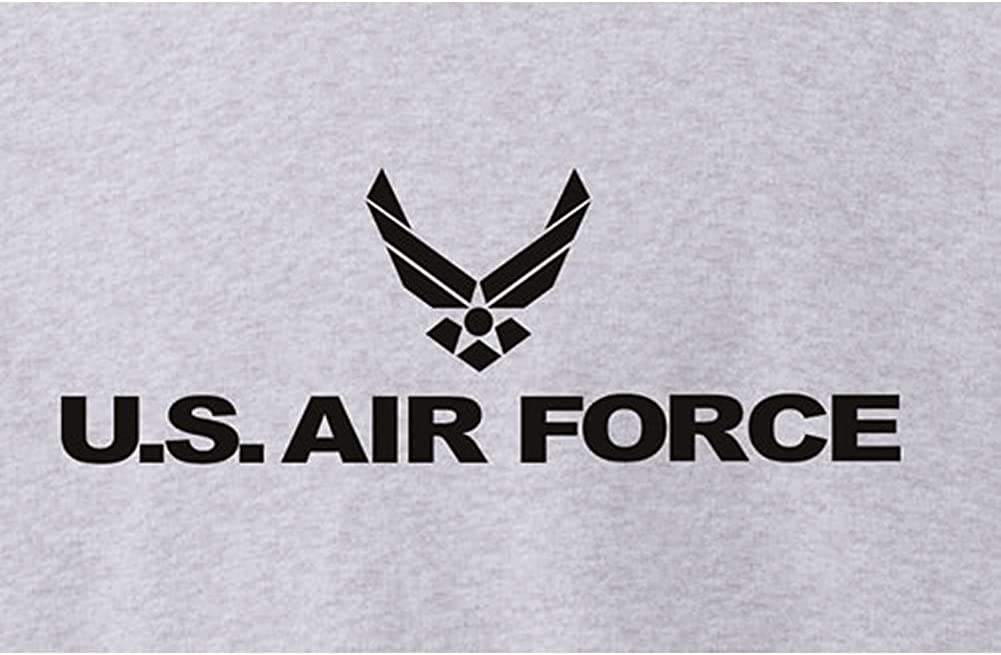 Air Force Military Style Physical Training Crewneck Sweatshirt in Gray