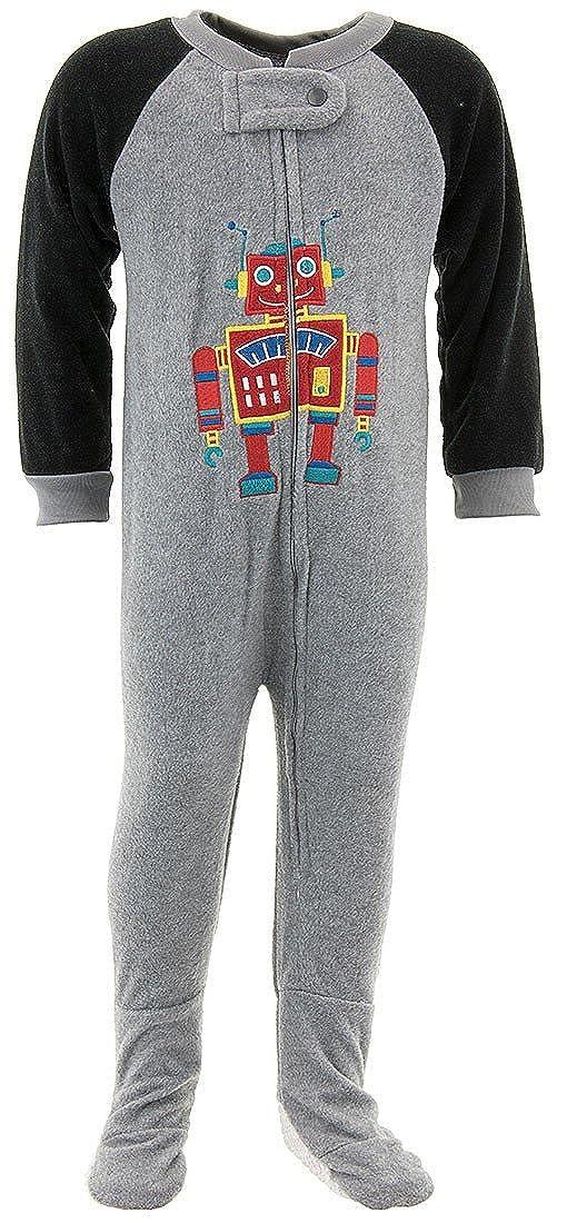 39a111b77 Amazon.com  Mon Petit Baby Boys  Robot Footed Pajamas  Clothing