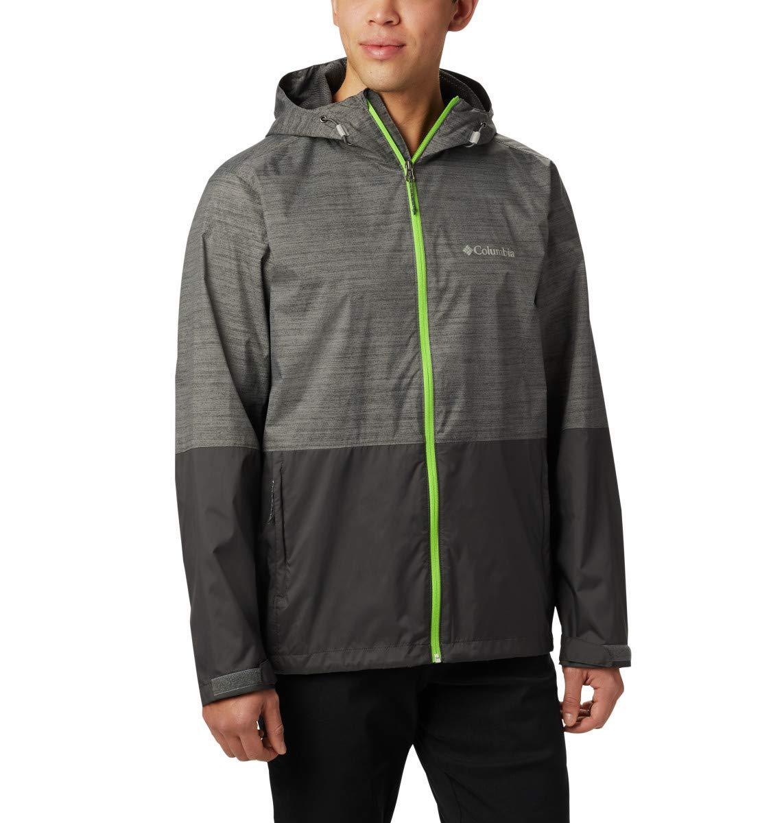 Columbia Men's Roan Mountain Jacket, City Grey Texture Print, Shark, Medium by Columbia