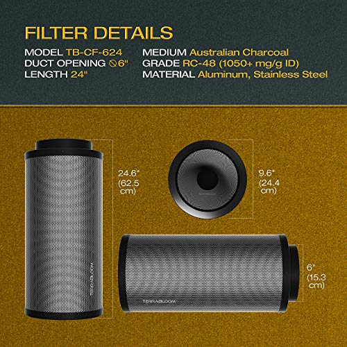Terrabloom Activated Charcoal Carbon Filter