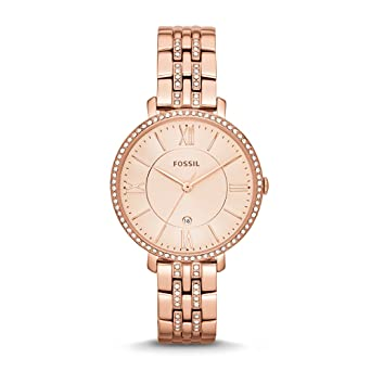 a9a7ccdda Fossil Women's ES3546 Jacqueline Rose Gold-Tone Stainless Steel Watch