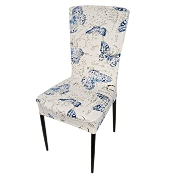 Iumer Dining Chair Floral Print Cover Elastic Chair Covers Spandex Elastic  Cloth Butterfly