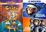 Funny Character Collection - Disney A Goofy Movie (Gold Collection) & Space Chimps + Zartog Strikes Back DVD Bundle Triple Feature