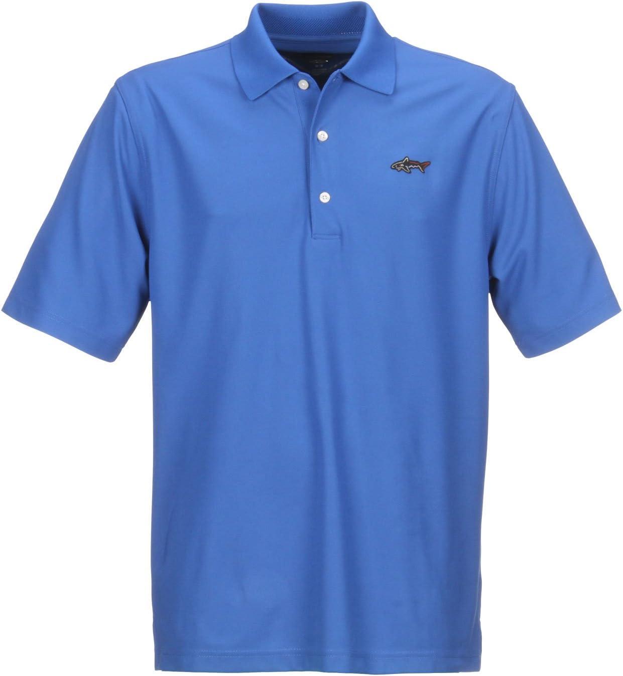 GREG NORMAN Collection Mens Protek Micro Pique Shark Logo Polo Shirt