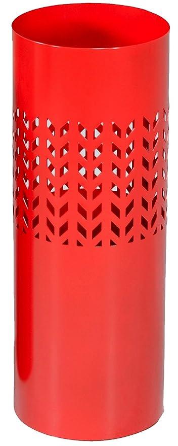 13891b0785 Portaombrelli ombrello contenitore diam.24 cm in ferro e metallo  antiruggine rotondo rosso con decori