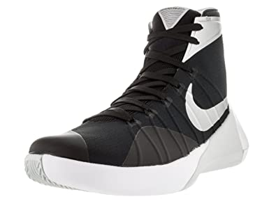 a8d071f035d8 Nike Mens Hyperdunk 2015 Team Basketball Shoe Black Anthracite White Silver  Size 9