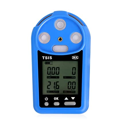 Medidor de monóxido de Carbono CH4 O2 H2S Analizador del Detector de Gas CO Monitor de