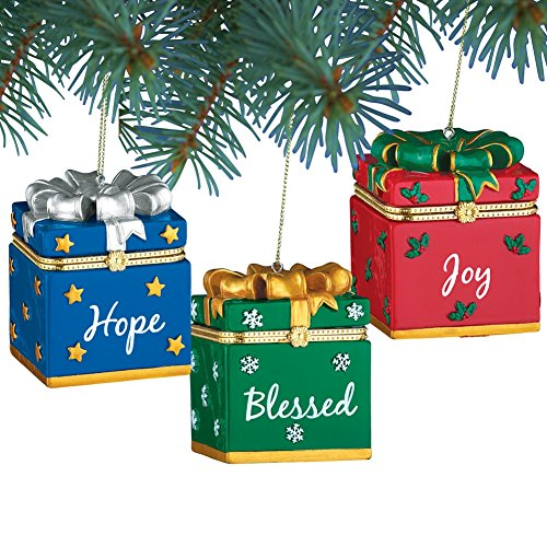 Inspirational Trinket Holiday Ornaments - Set Of 3