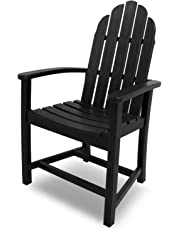 Poly-Wood ADD200BL Classic Adirondack Dining Chair, Black