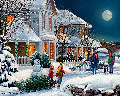 Vermont Christmas Company Holiday Walk Jigsaw Puzzle 1000 Piece