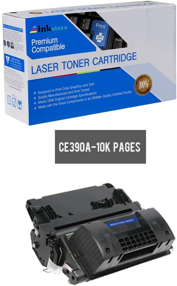 Inksters Compatible Toner Cartridge Replacement for HP 90A (CE390A) - Compatible with Laserjet Enterprise 600 M601DN M601N M602DN M602X M603DN M603N M603XH M4555 M4555 MFP M4555F