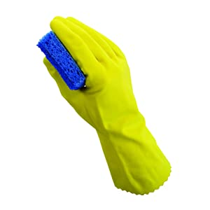 The Safety Zone R-GRFY-SM-PR Reusable Latex Gloves (12 bagged pairs of gloves), Small