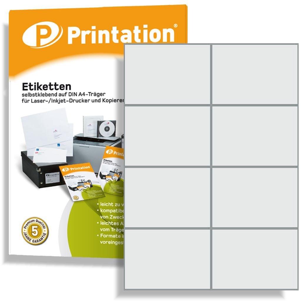800etichette adesive su supporto A4, 105x 74mm bianco Printation