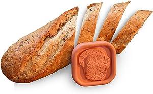 JBK Pottery Bread Saver, 2.25 x 2.25 Inches, Terra Cotta