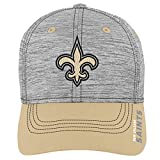 NFL by Outerstuff NFL New Orleans Saints Youth Boys Velocity Structured Flex Hat Heather Grey, Youth One Size