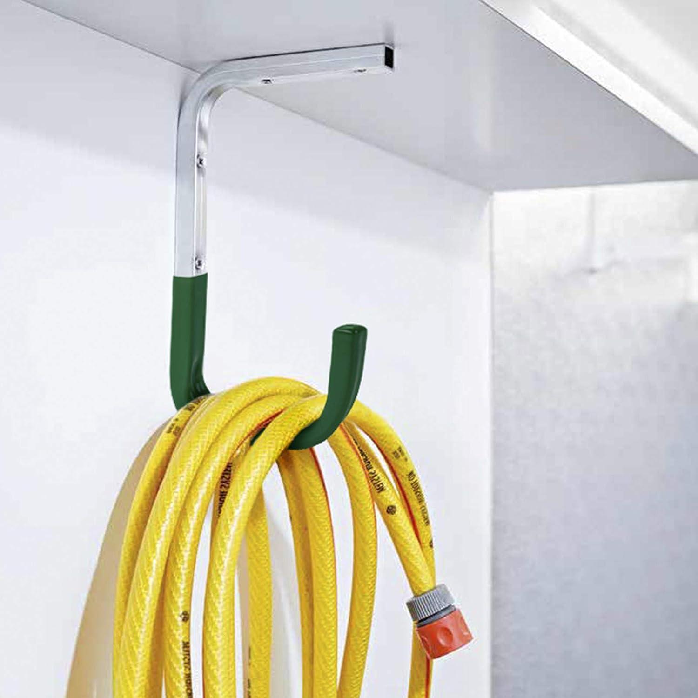 8 St/ück OrgaTech Wandhaken 300 x 250 mm gr/ün bis 30 Kg Tragkraft mit Gummierung Allzweckhaken Ger/ätehalter