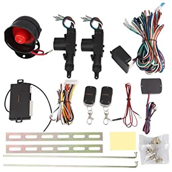 Control remoto para cierre centralizado sin llave para 2 puertas y alarma de coche, universales, 12 V, de alta calidad, seguro