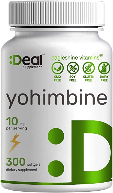 Yohimbine HCL 10mg, 300 Softgels, 5 Months Supply, Plant Based Fat Burner, Weight Loss Management, Promote Energy & Pre Workout - Premium Yohimbine Supplements