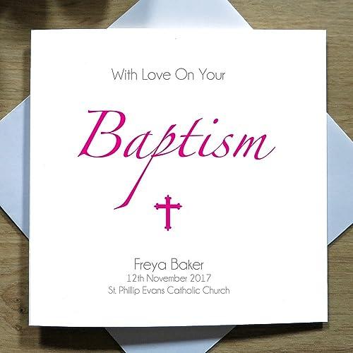 Personalised handmade greeting card new baby cards with love on personalised handmade greeting card new baby cards with love on your baptism baby m4hsunfo