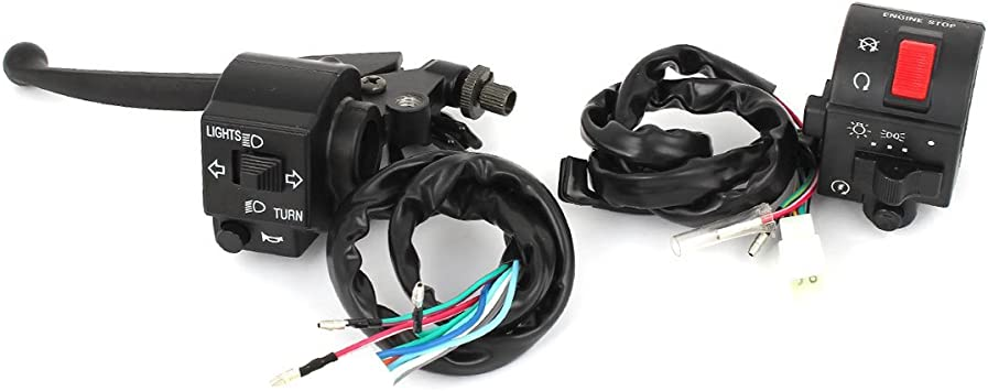 uxcell Pair Motorcycle Handlebar Turn Signal Light ON//OFF Control Switch Assembly
