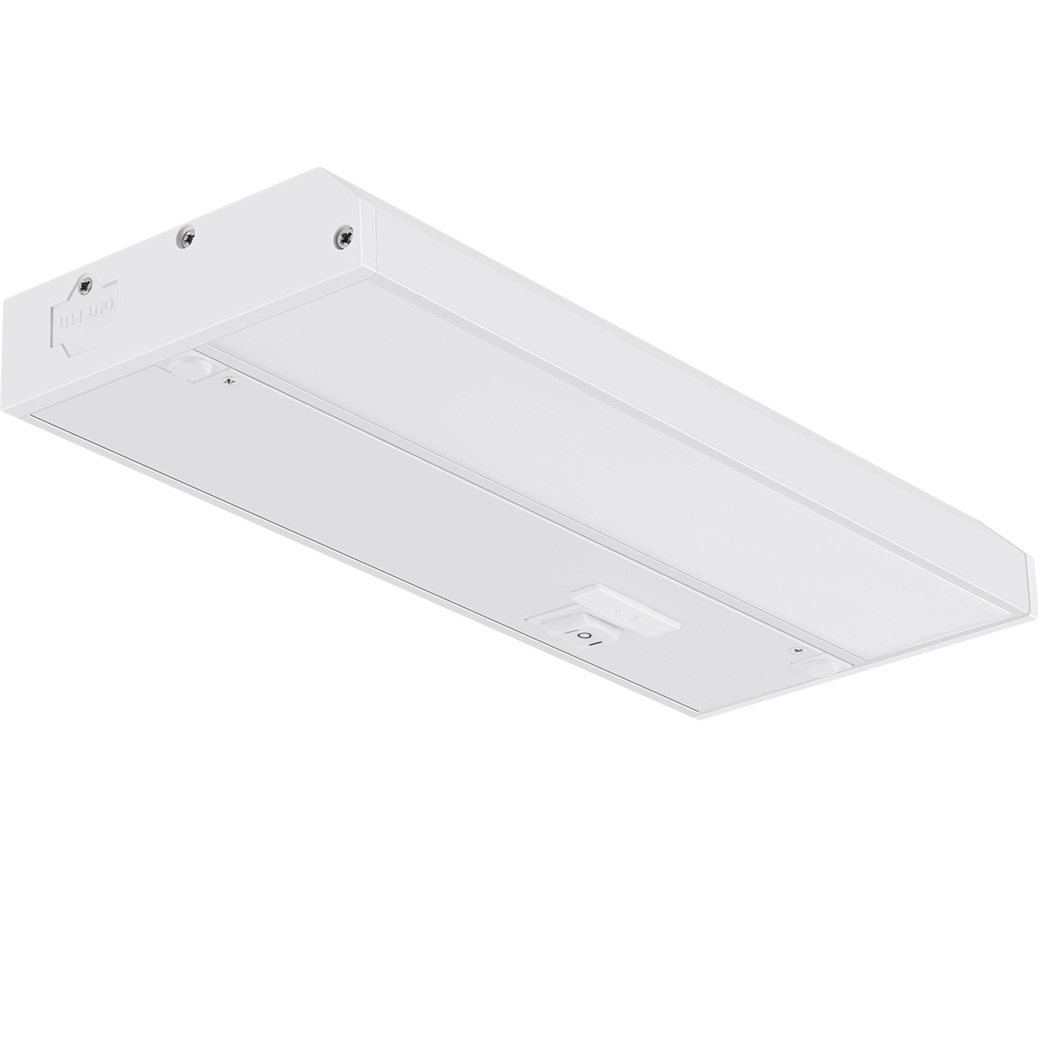GetInLight 3 Color Levels Dimmable LED Under Cabinet Lighting with ETL Listed, Warm White (2700K), Soft White (3000K), Bright White (4000K), White Finished, 9-inch, IN-0210-0