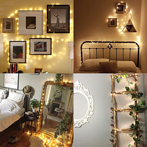 Solar String Lights, Ankway 200 LED Solar Fairy Lights 3-Strand 8 Modes 72 ft Waterproof IP65 Solar Powered String Lights Outdoor for Home Window Bedroom Patio Garden Indoor Warm White by Ankway (Image #5)