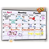 Rabbitgoo Dry Erase Monthly Calendar 2019-2020 Fridge Magnetic Calendar Whiteboard Organizer, Refrigerator Marker Board Calendar for Home, Office, School, 43 x 30 Centimeters, (17 x 11.8 inches)