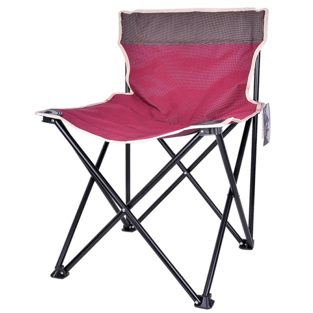 YUJIE Portabler Klappstuhl Angelstuhl Im Freien Camping Picknick Party Skizze Klappstuhl mit Aufbewahrungstasche