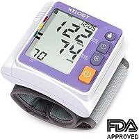Hylogy Tensiómetro de Muñeca Presión Arterial Alta Precisión Monitor y Deteccion Arritmias, Pantalla Grande LCD y 2 * 120 Memorias
