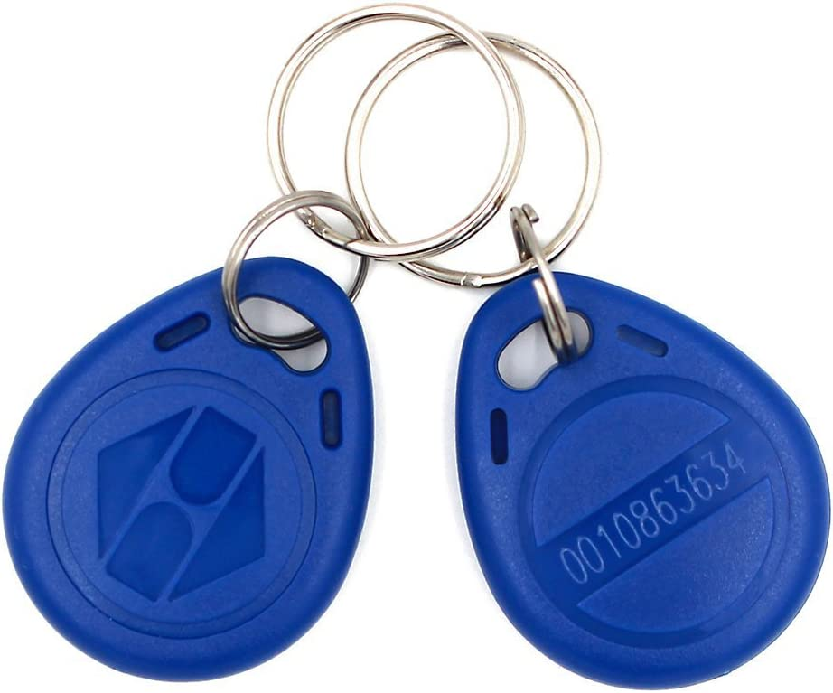 100 Pack HWMATE 125khz RFID Smart EM ID Read Only Entry Access Keyfob Tag Token Keychain Card Color Red