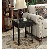 Convenience Concepts 7107045BL Nottingham End Table, Black