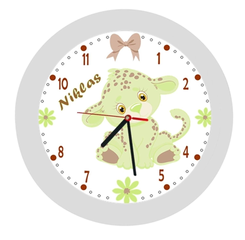 ✿ Kinderwanduhr in 4 Farben ✿ Einhorn Unicorn 7 ✿ Wanduhr ✿ KEIN TICKEN ✿ mit//ohne Name