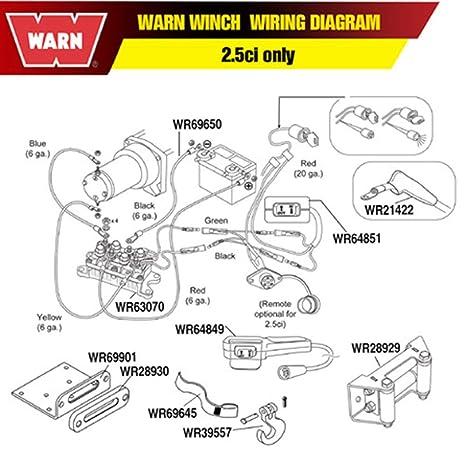 Amazon.com: WARN 69650 (MTO) CABLE6 GA.BLK36in (SP: Automotive on